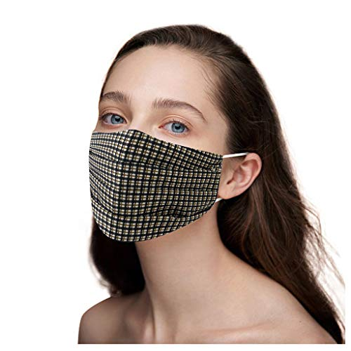 Adult Washable Face cloth Adjustable cloth scarf Breathable Tie Dyeing Protector Face Bandanas Black