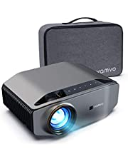 """Projector for Outdoor Movies, vamvo L6200 1080P Full HD Video Projector with max 300"""" Display, 5000Lux, Ideal for Outdoor, Home Theater, Compatible with Fire TV Stick, PS4, HDMI, VGA, AV and USB"""