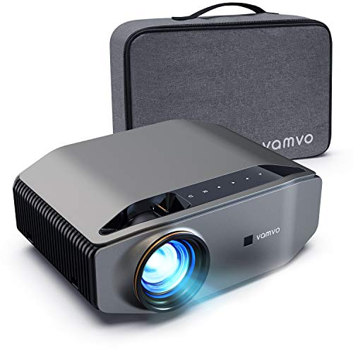"1080p Projector, vamvo L6200 Full HD Video Projector with max 300"" Display, 5000Lux with 50000hrs Life, Ideal for Outdoor, Home Theater, Compatible with Fire TV Stick, PS4, HDMI, VGA, AV and USB"