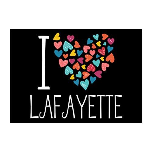 Teeburon I Love Lafayette Colorful Hearts Sticker Pack x4 6'x4'