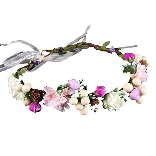 BESTOYARD Blumenkranz Stirnband Braut Haar Girlande Blumen Kopfschmuck Haarschmuck für Hochzeitsstrand