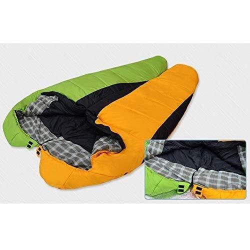 TLMYDD Camping Slaapzak, Envelop Mummy Outdoor, Licht Draagbaar Met Waterdicht Perfect Voor 0 Graden Reizen, Wandelen, Groene slaapzak