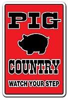 アルミ金属ノベルティサイン、豚カントリーファーム農家豚ペン豚ベーコン雌豚B、金属ポスタープラーク警告サイン鉄絵画アート装飾バーカフェガーデン寝室オフィスホテル