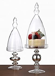 Glass Pedestal Bell Jar (3 1/2 D x 10in H)