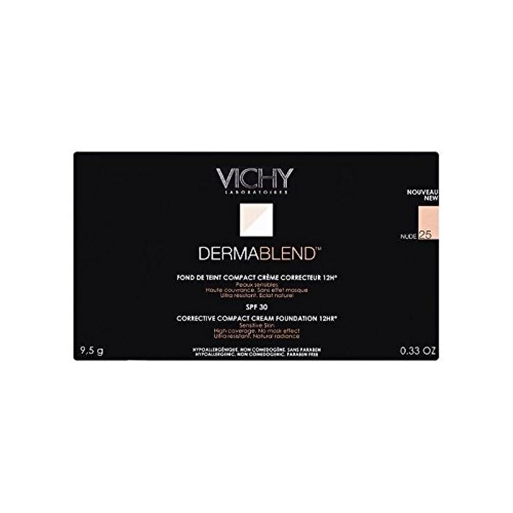 品種設置キャンディー25ヌードヴィシー是正コンパクトクリームファンデーション x4 - Vichy Dermablend Corrective Compact Cream Foundation Nude 25 (Pack of 4) [並行輸入品]