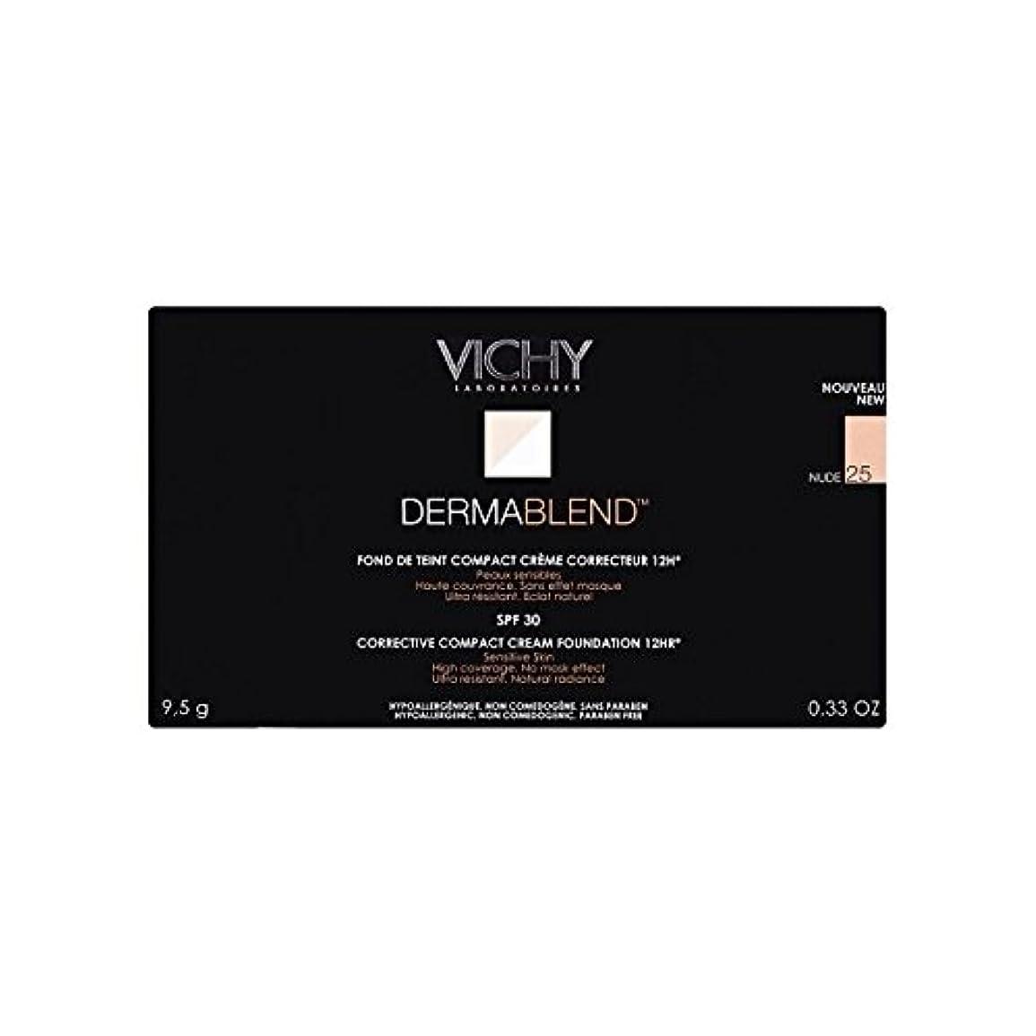 カーフ元気な旅行25ヌードヴィシー是正コンパクトクリームファンデーション x4 - Vichy Dermablend Corrective Compact Cream Foundation Nude 25 (Pack of 4) [並行輸入品]