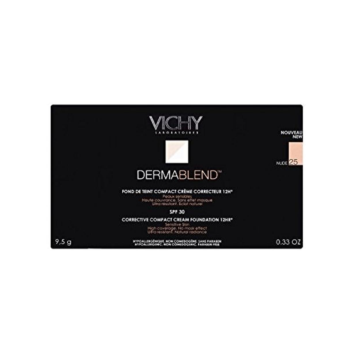 警官のぞき見計り知れない25ヌードヴィシー是正コンパクトクリームファンデーション x4 - Vichy Dermablend Corrective Compact Cream Foundation Nude 25 (Pack of 4) [並行輸入品]