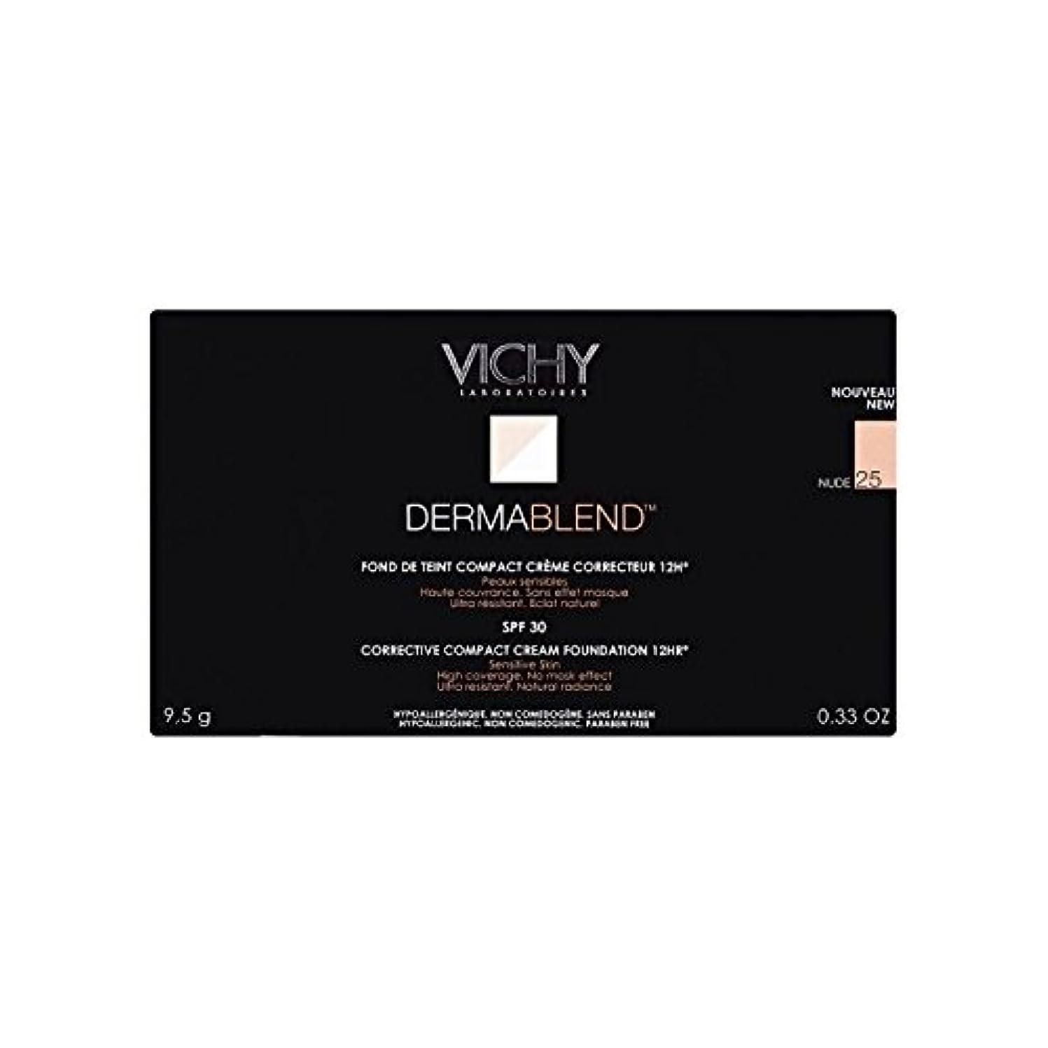 グラフ提案ラダ25ヌードヴィシー是正コンパクトクリームファンデーション x4 - Vichy Dermablend Corrective Compact Cream Foundation Nude 25 (Pack of 4) [並行輸入品]