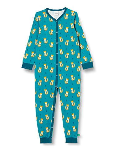 Fred's World by Green Cotton Baby-Boys Fox Bodysuit and Toddler Sleepers, Teal, 92
