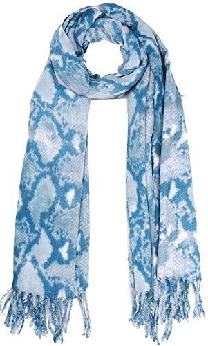 Dielay dames zachte sjaal met slangenpatroon - wolmix - 180x70 cm