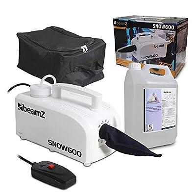 beamz Compact Snow Machine 600w Party Snowflake Inc Fluid & FREE Bag DJ Disco Party