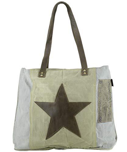 Sunsa mujer bolsa de mensajero vintage bolsa cruzada de lona militar 50x37x13 cm 1699