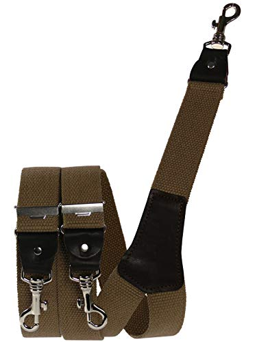 Harrys-Collection Herren extra starker Hosenträger mit Karabinerhaken, Farben:camel, Größen:120 cm