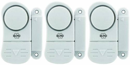 NRS Healthcare M52894 Alarma magnética para puertas y ventanas, paquete de 3