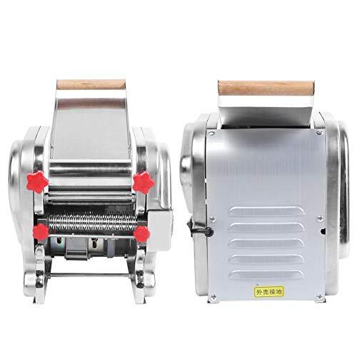 【2020 Jahresendaktion】Schrumpffunktion Elektrisch einstellbare Dicke Langlebiger elektrischer Nudelhersteller, Nudelwalzenmaschine, für Restaurant Gewerbliche Küche Zubehör EU 220V Home