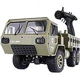 The perseids RC Military Truck, 1:12 Échelle 2.4G 6WD Véhicule Tout-Terrain Lourd Télécommande Pleine Proportion Jouet de Voiture de l'armée pour Les Enfants de Plus de 14 Ans et Les Adultes (1:12)