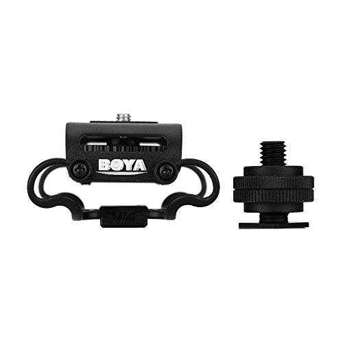 BOYA ショックマウント BY-C10 マイクホルダー デジタルオーディオ、レコーダー、デジタル一眼レフに対応 振動防止 (ブラック) 【並行輸入】