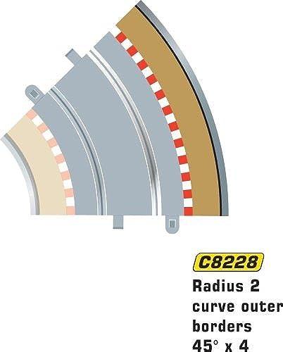 moda Scalextric C8228 Radius 2 Outer Border Barrier 45 degree degree degree 1 32 Scale Accessory by Scalextric  precioso