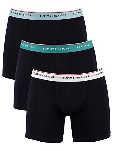 Tommy Hilfiger 3P WB Boxer Brief Ropa Interior, Blanco/Countryclub/Cumbre, XL para Hombre