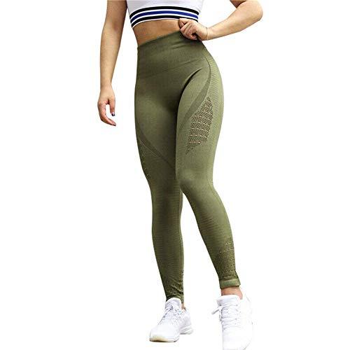 Vrouwen Yoga Leggings Anti-Cellulite Slim Compressie Holle Hoge Taille Broek S Groen