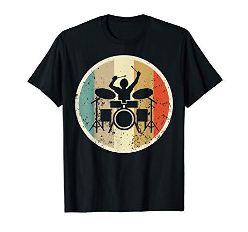 Drummer Schlagzeuger Drum Kit Sticks Retro Vintage Grunge T-Shirt
