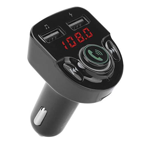 Transmisor Bluetooth, Manos Libres FM inalámbrico Cargador USB Dual Transmisor Bluetooth Reproductor MP3 Reconexión automática Transmisor Bluetooth con micrófono
