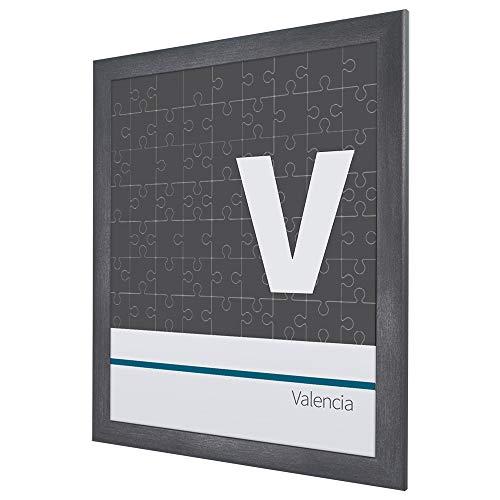 Puzzlerahmen Bilderrahmen Valencia 50X70cm Anthrazit Stahl für ca. 500-1000 Teile
