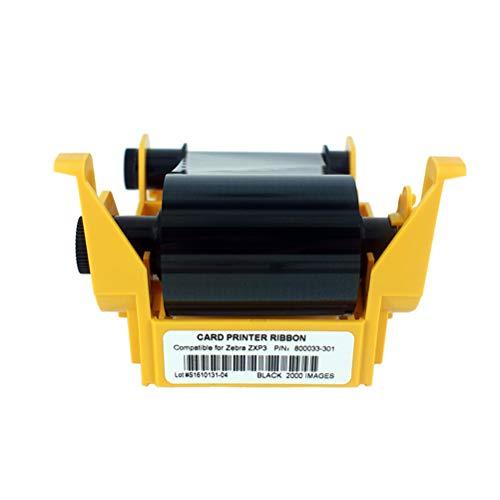 800033-301 Black Monochrome Ribbon, ZXP3 Ribbon, Resin Black Ribbon for Zebra ZXP Series 3 ZXP3 Card Printers, 2000 Images