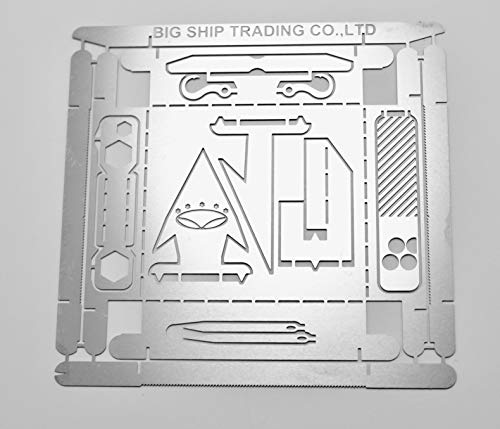 BIG Ship trading BST Survival Cards Multitool for Campaign and Wilderness Survival   Stove, Needles, Fish Hooks, Saw Blades, Tinder Scraper, tick Fork, Fret Preppers Gear Camping Hiking Hunting