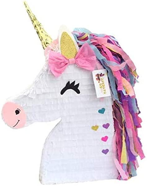 APINATA4U Unicorn Pinata With Pink Bow Magical Unicorn Theme Party Favor