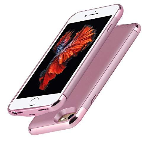 HiKiNS Funda Batería para iPhone 8/7/6/6S 3500mAh Externa Ultra Batería Recargable Power Bank Case Funda Cargador Portatil Batería para iPhone 6/6S/7/8 - Rosered