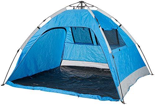 Semptec Urban Survival Technology Strandmuschel: Extragroßes Automatik-Strandzelt für 3 Personen, UV 50+ (Pop Up Zelt)