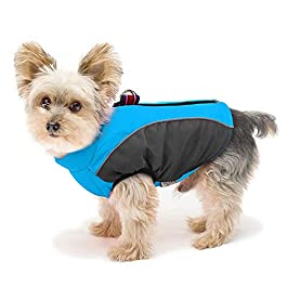 Didog Fleece Lined Warm Dog Winter Coat for Small Dogs & Cats – Reflective Cold Weather Dog Jacket Sport Vest with Zipper Closure and Leash Ring for Walking Hiking