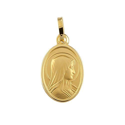 Madonna Maria Immaculata Milagrosa Anhänger 8 Karat 333 Gold Gelbgold (Ohne Kette) 94807
