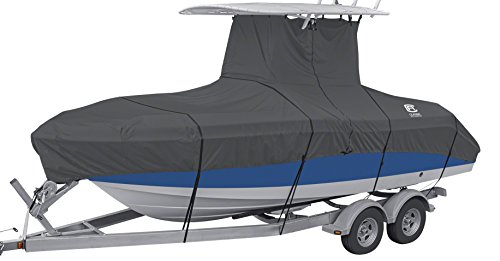 Learn More About Classic Accessories StormPro Heavy Duty Center Console T-Top Roof Boat Cover, For 2...
