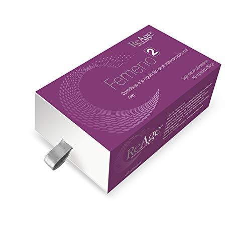 ReAge® FEMENO 2 para las mujeres | Apoyo a la menopausia | Estrógeno equilibrio hormonal Suplemento femenino | Optimiza la descomposición del estrógeno | | 60 Cápsulas