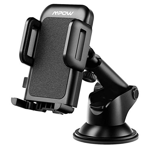 Mpow Car Phone Mount, Dashboard Car Phone Holder, Washable Strong Sticky Gel Pad with One-Touch Design Compatible iPhone 11 pro,11 pro max,X,XS,XR,8,7,6 Plus,Galaxy S7,8,9,10,Google Nexus, Black