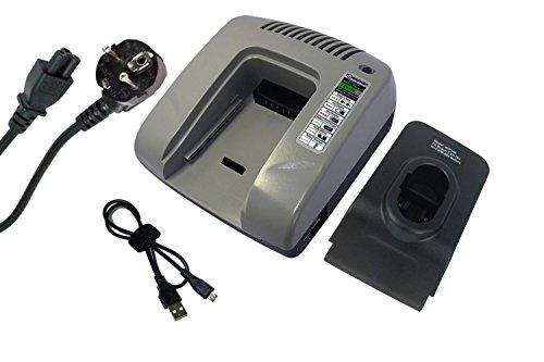 PowerSmart® 7.2-18V Ladegerät für SKIL 3000VSRK,3100, 3100K, 3105, 3105K, 3109K, 3110, 3110K, 3110VSRK, 3220,B2100, B2109, B2109K, B2110, B2220 (Grau)