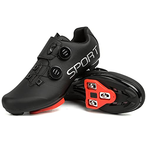 Men's Riding Cycling Shoes with Delta Cleat Set Compatible...