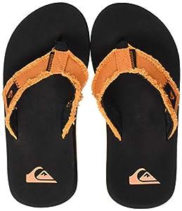 Quiksilver Monkey Abyss Youth, Zapatos de Playa y Piscina para Niños, Naranja (Black/Orange/Orange Xknn), 29 EU