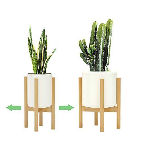 Leocaslet フラワースタンド 花台 竹製 鉢スタンド 幅20cm~30cm調整可能 屋外 室内 プランタースタンド 鉢スタンド 竹製 植木鉢台 花台 ガーデニング
