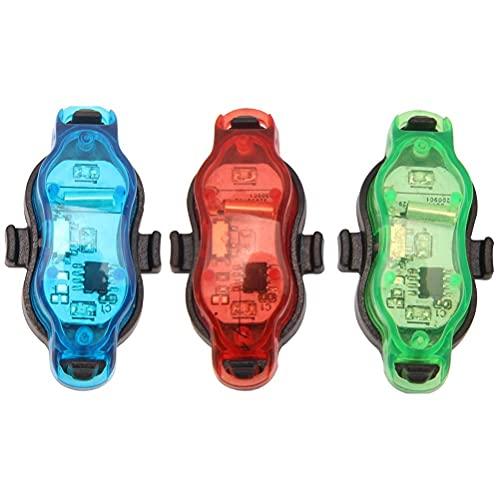 3 piezas luces de rueda de bicicleta elegantes luces de radios de bicicleta impermeable luces de rueda de bicicleta para luces de bicicleta seguras para ruedas linterna