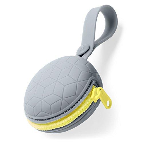 Skip Hop Skip Hop Schnullerbox aus Silikon, Aufbewahrung von zwei Schnullern, grau