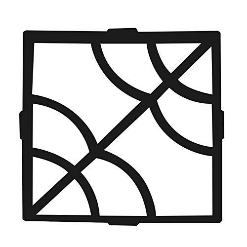 AMAIRS Betonformen, Garten Bürgersteig Form Gartenstraße Pflasterform Wiederverwendbare Stanz Betonform DIY Handbuch Pflaster Zement Stein Pflasterform