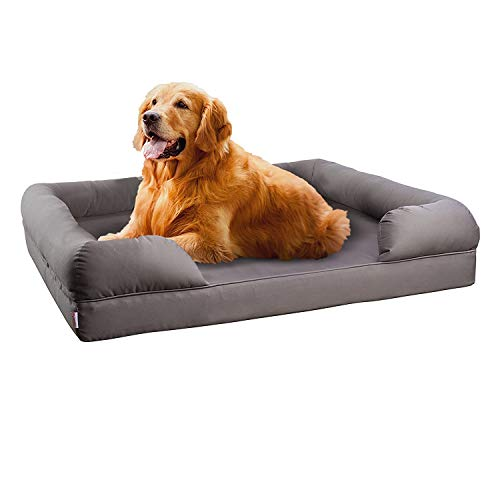 Petlo Orthopedic Pet Sofa Bed - Dog, Cat or Puppy Memory Foam Mattress Comfortable Couch for Pets...