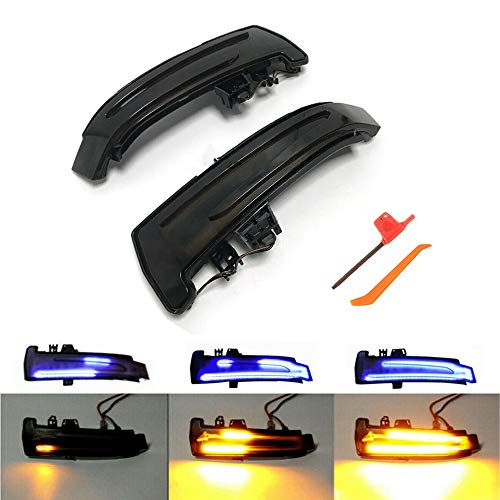 1 Paar Dynamische LED Blinkerleuchten Blinker Spiegelblinker Sequentielle Laufblinker Kompatibel mit Mercedes-Benz W176 W204 W212 W221 CLA C117