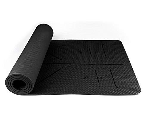 B/H Esterilla Yoga con Correa,Posture Line Esterilla de Yoga Antideslizante Esterilla de Fitness-B5_183X80X0.8cm,Colchoneta Yoga Antideslizante para Abdominales