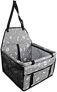 TOOGOO Dog Car Seat Upgrade Deluxe Portable Pet Dog Booster Car Seat with Clip-On Safety Leash and Dog Blanket,Perfect for...