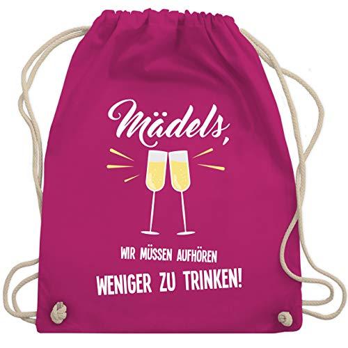 Shirtracer Statement - Mädels, wir müssen aufhören weniger zu trinken - Unisize - Fuchsia - turnbeutel mädels - WM110 - Turnbeutel und Stoffbeutel aus Baumwolle