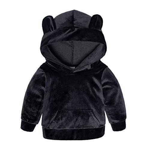Yying Kinder Kleidung Jungen Sets Winter Weihnachten Kinder Kleidung Kleinkind Mädchen Jungen Kleidung Sets Baumwolle Mädchen Sport Anzüge Schwarz 90